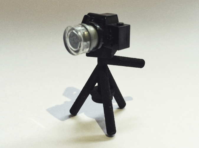 Picture from the 3D print with a Lego camera.
