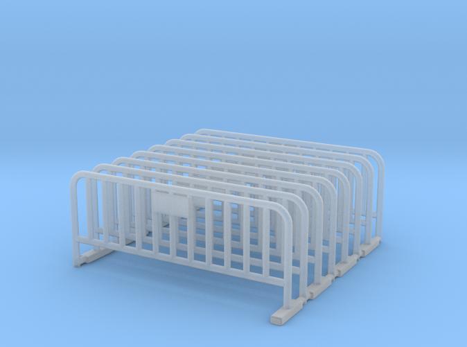 Metal Barrier (Fence) in scale HO (1:87)