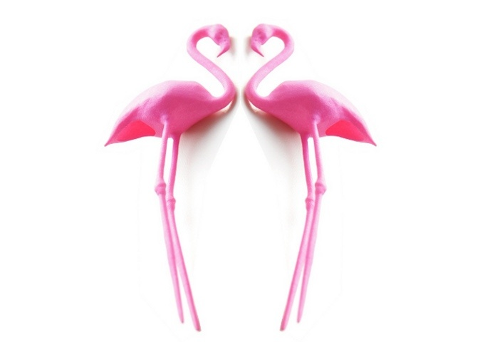 Flamingo Cake Topper - Pink