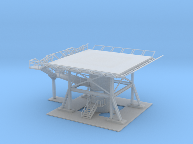 Helicopter Landing Pad Z scale