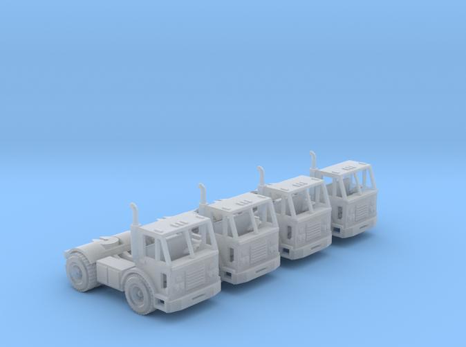four Peterbilt 320 truck N scale