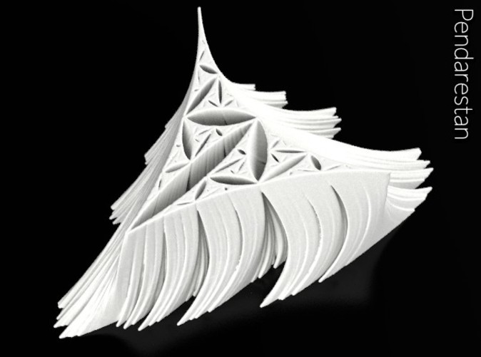 De Rham curve-based fractal sculpture