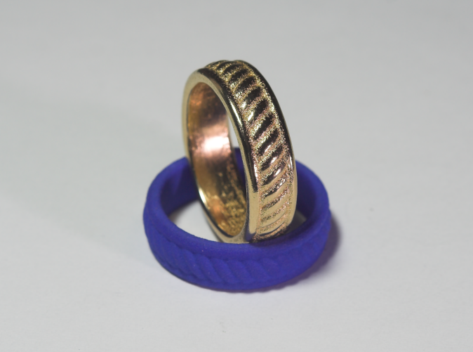 Gold Plated Stainless Steel & Blue Plastic