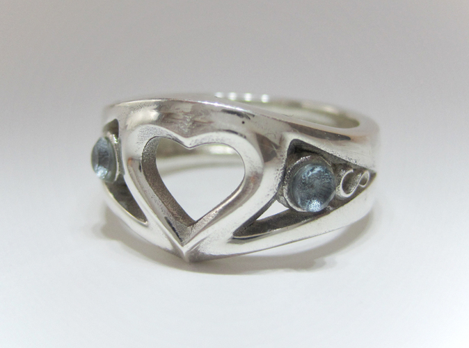 Adjustable Heart Ring Raw brass ring Heart Ring AR133 Jewelry Supplier wholesale ring