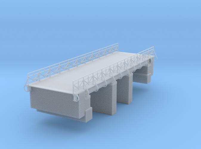 two Lane Roadway Bridge over single track z scale