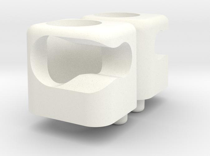 White plastic render