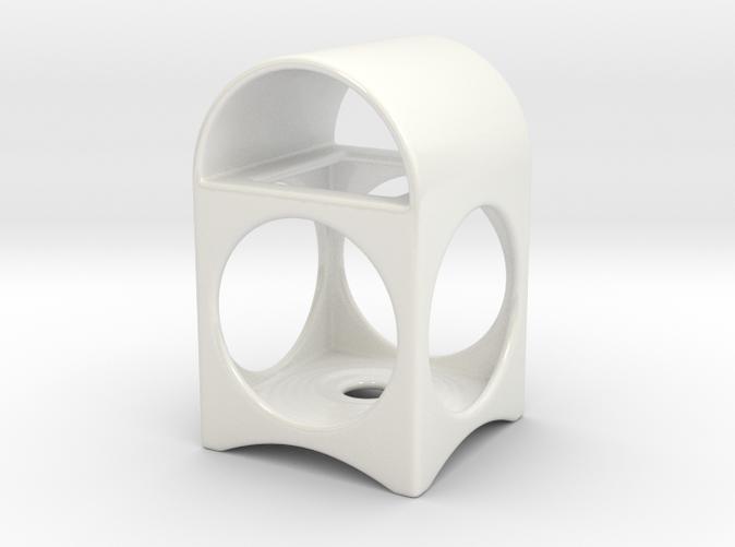 Ceramic Tea Light Lantern - white