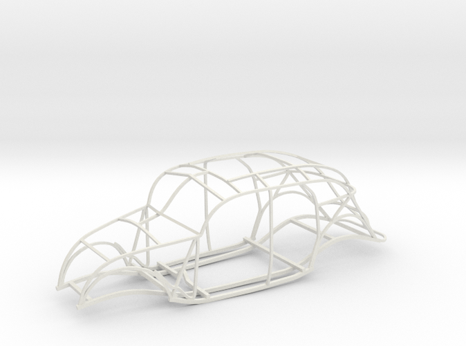 "This is a computer rendering of the plastic replica frame; it is about 16"" long."