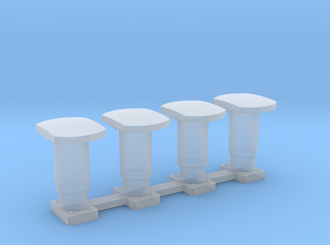 Buffer for cargo wagons