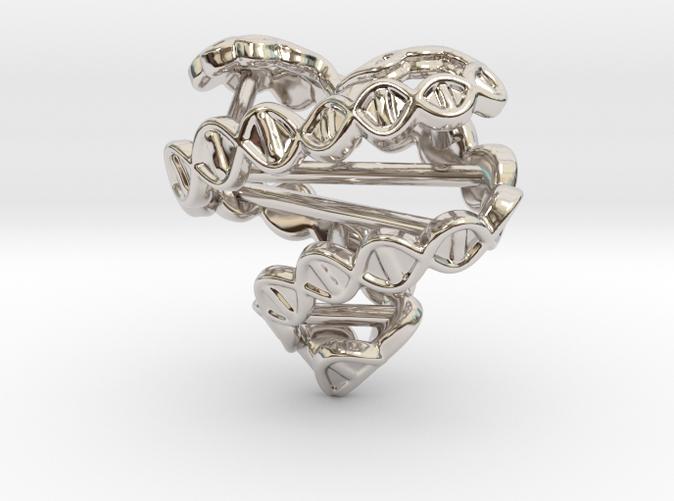 DNA heart pendant