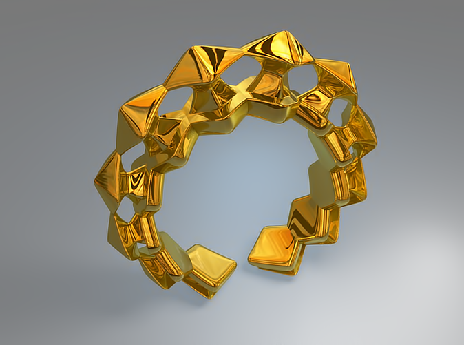 Pylon Ring (Gold - Rendering)