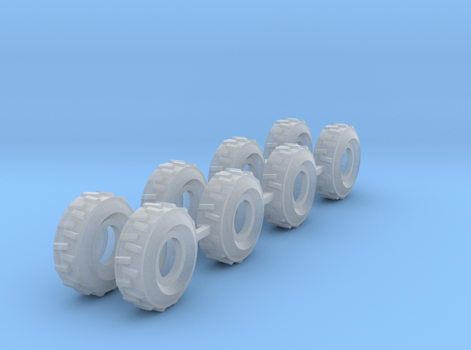 8 set tractor tires Z scale