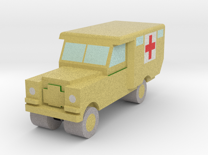 Land Rover S2 Ambulance in FCS. Army, sand