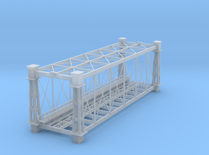 Single track bridge Z scale