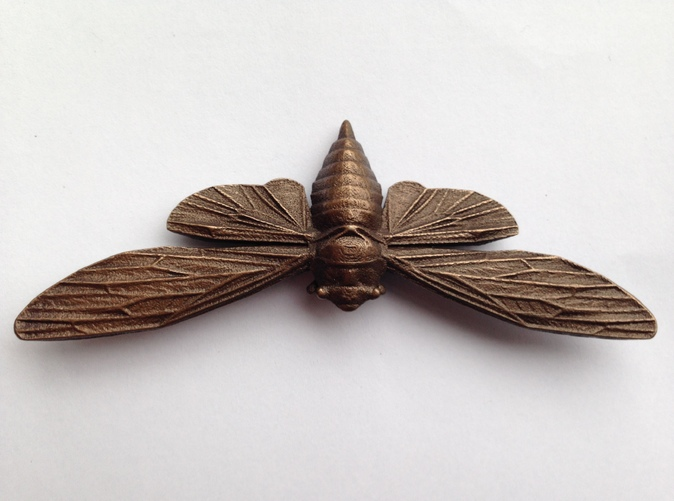 Polished Bronze Steel Cicada
