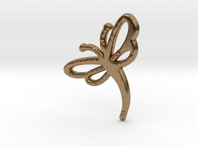 This is the Buzzing Dragonfly Charm in Raw Brass.