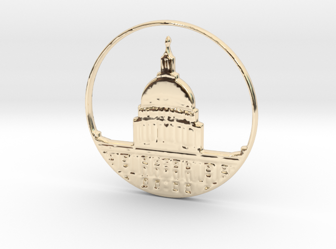 Washington DC Pendant (different materials have different prices)