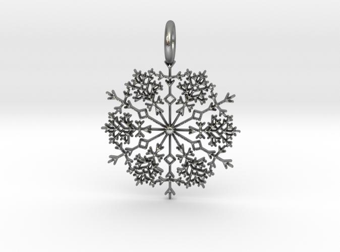 Silver Winter Snowflake Pendant