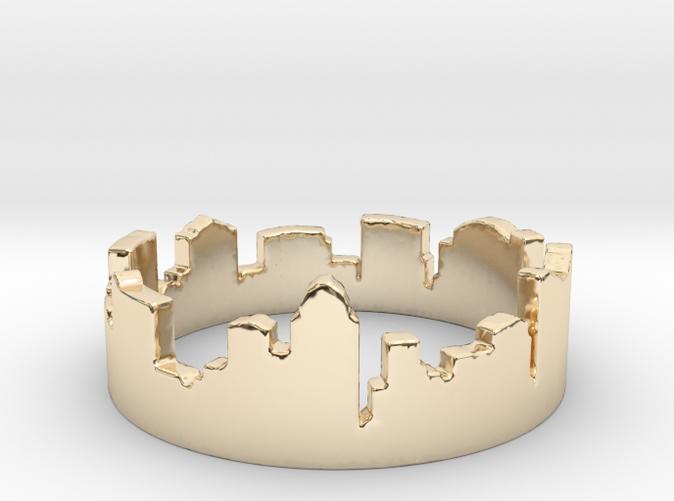 Columbus Night Ohio Ring is Golden