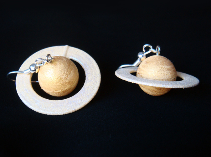 planet saturn earring - photo #28