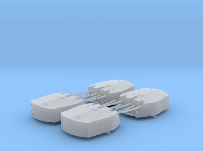 1/350 RN Triple 6 Inch MKXXIII Turrets (4)