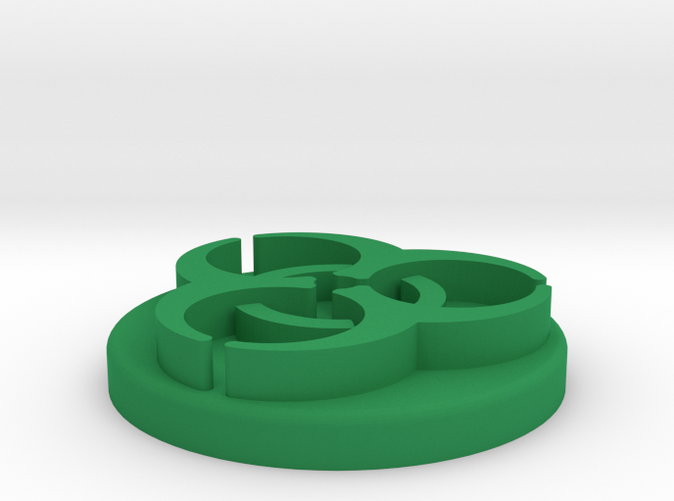 Render of token in Green Strong & Flexible Polished