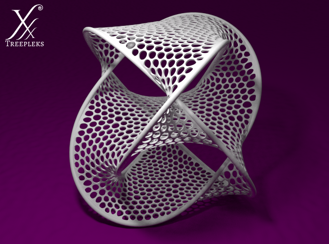 Optimized for White, Strong and Flexible material (Blender render).