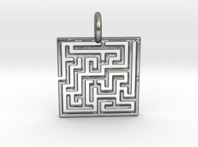Puzzle Pendant in Sliver