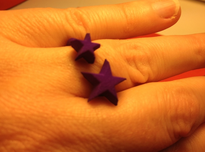 Shapeways printed in purple