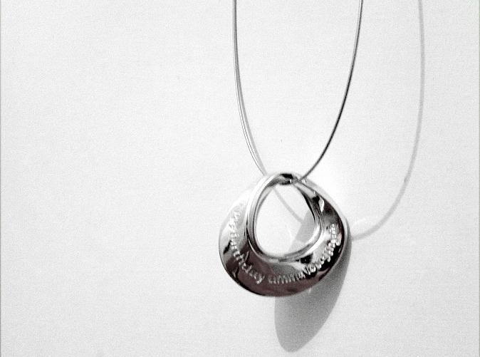 Mobius Pendant I in Premium Silver