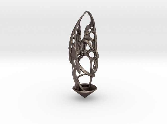 candle holder LUX DRACONIS 002 - 3D printed in steel