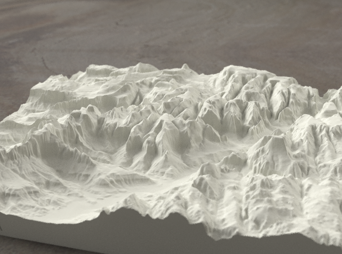 Radiance rendering of Zion Canyon model from the south