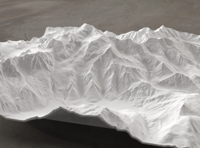 Radiance rendering of model, viewed from the north.