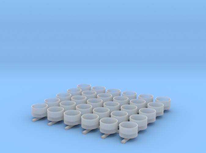 1/350 Oerlikon Tubs (Stepped Bottom) x30