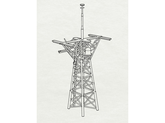 1/192 Scale Perry Mast