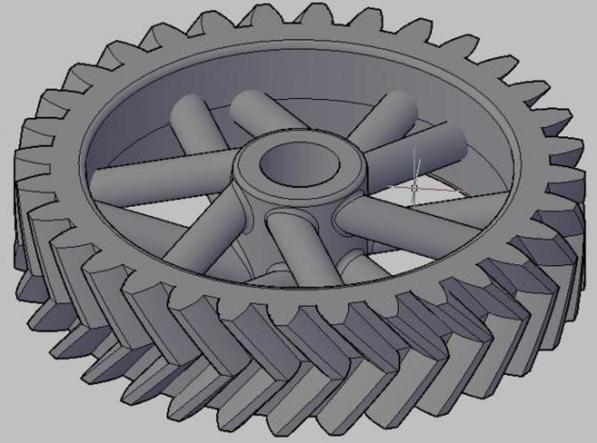 32 tooth herringbone gear, just for fun
