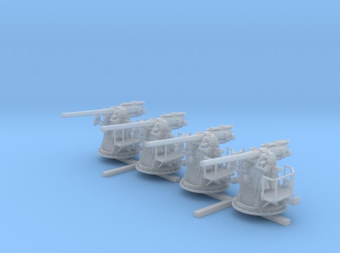 "1/128 RN 4""/45 (10.2 cm) QF MKV MKIII x4"