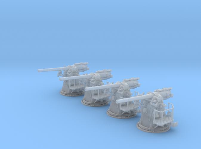 "1/96 RN 4""/45 (10.2 cm) QF MKV MKIII x4"