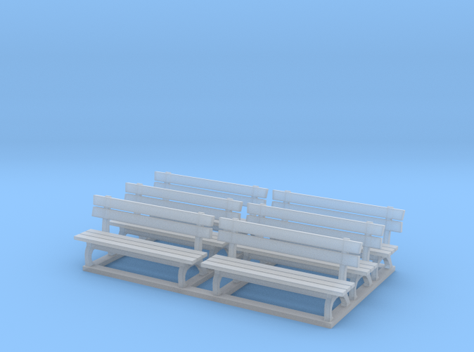 Park bench in HO scale (1:87)