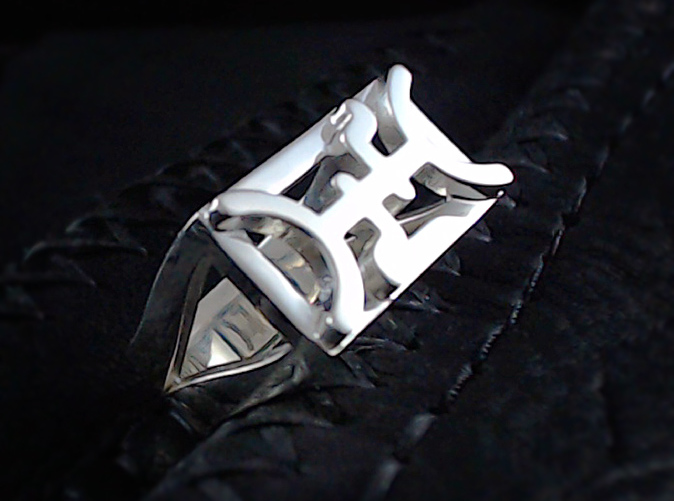 Shown in polished silver.