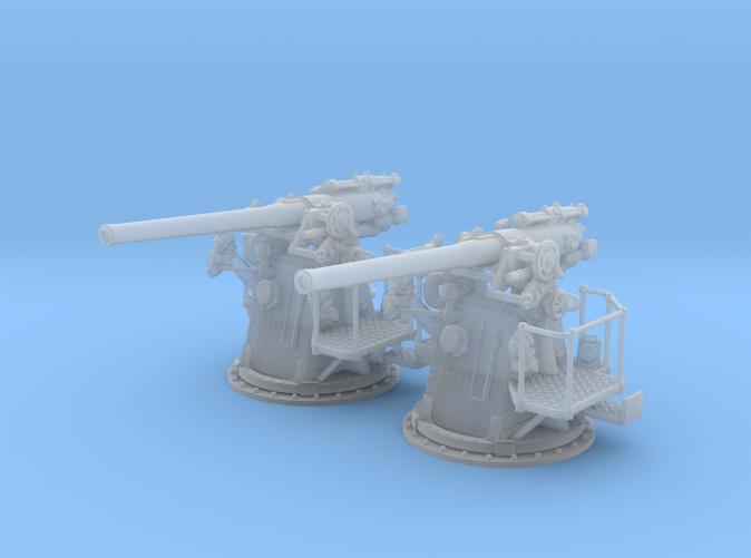 "1/72 RN 4""/45 (10.2 cm) QF MKV MKIII x2"