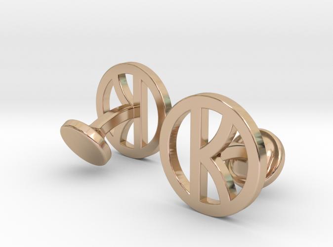 kingsman cufflinks 14K rose gold plated