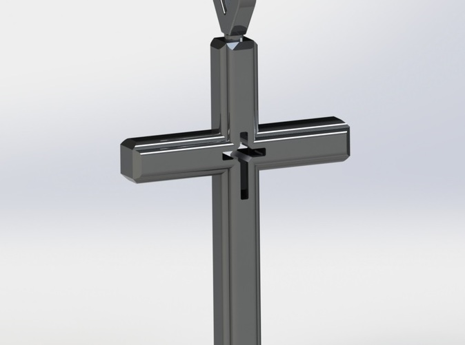 Rendered Image of Cross Pendant