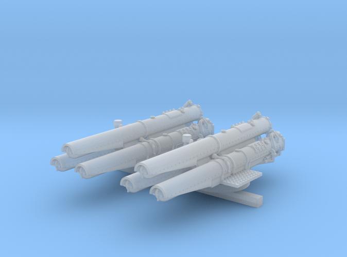"1/350 V & W Class Destroyer Triple 21"" Tubes x2"