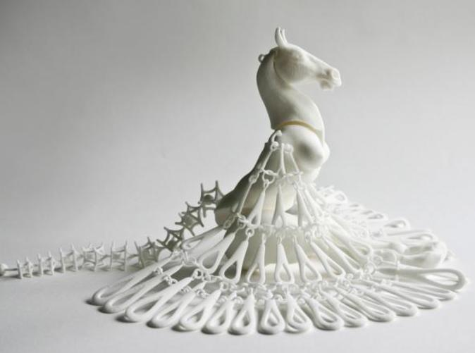 The Horse Marionette from the side