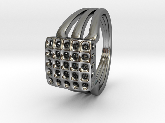 Voronoi 5x5 SurfPatch Triple Ring (001)