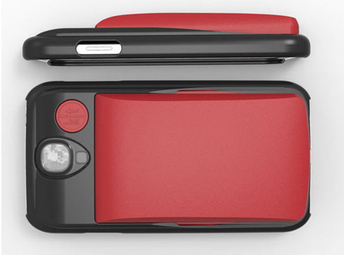 Slim Wallet shown in Red on the GS4