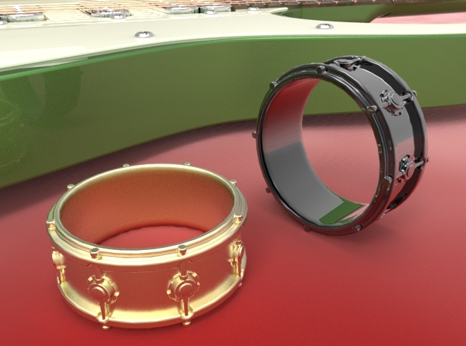 Render of Snare Drum Ring