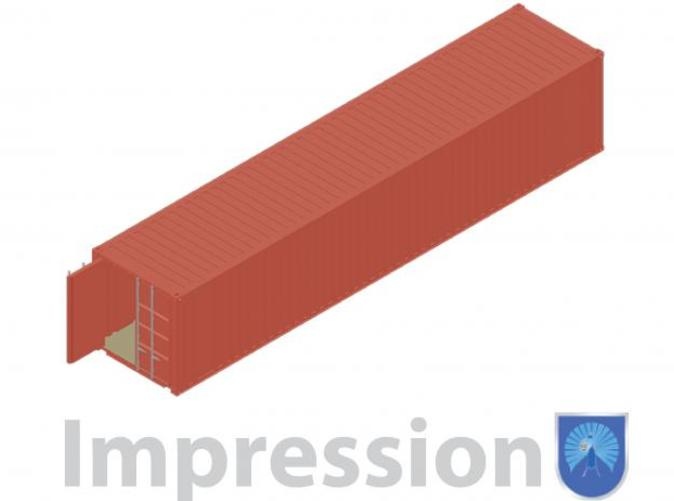 impression of a shipping container type A
