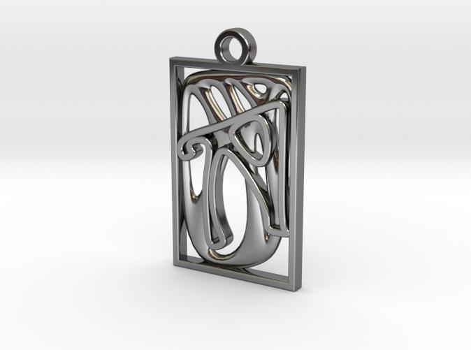 Personalised Voronoi Rectangular Pendant